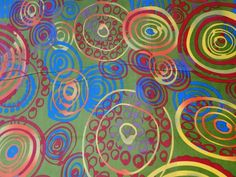 erg grappige kleuren voor zo een 'deftige' stof  Velours W703 groen, cirkel oranje/blauw/rood  vorige  volgende  €14,95