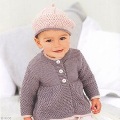 Coats and Berets in Rico Baby Classic DK - Discover more Patterns by Rico at LoveKnitting. The world& largest range of knitting supplies - we stock patterns, yarn, needles and books from all of your favourite brands. Baby Knitting Patterns, Knitting For Kids, Baby Patterns, Baby Pullover, Baby Cardigan, Knitting Supplies, Knitting Projects, Brei Baby, Knitted Baby Clothes
