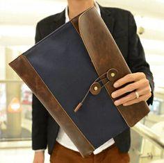 stacy bag hot sale men handbag male PU leather vintage briefcase man hand bag envelope bag business bag document bag day clutch $9.00