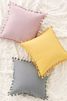 Marisa Tipped Faux Fur Pillow Magical Thinking Avery Tassel Pillow Yellow Pillows, Cute Pillows, Diy Pillows, Decorative Pillows, Colorful Pillows, Pillow Ideas, Sofa Cushions, Floor Cushions, Accent Pillows