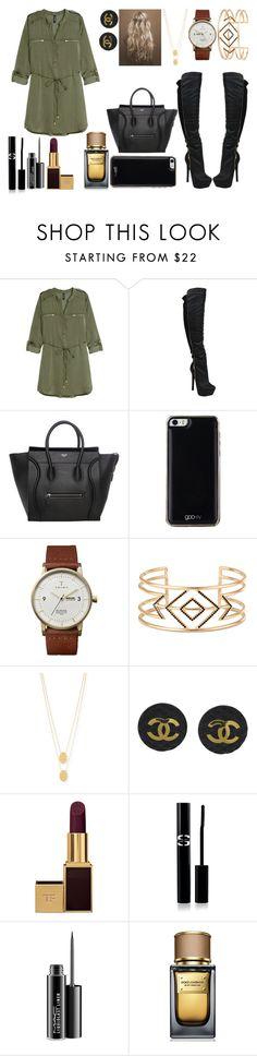 """October"" by vickyyates ❤ liked on Polyvore featuring H&M, Gooey, Triwa, Stella & Dot, Jennifer Zeuner, Chanel, Tom Ford, Sisley Paris, MAC Cosmetics and Dolce&Gabbana"