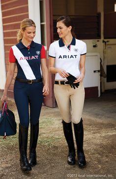 Love these Ariat polos! #horselandspring #horselandnsnr