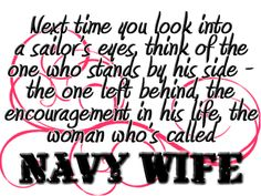 I cant wait to be a Navy Wife! Soon!