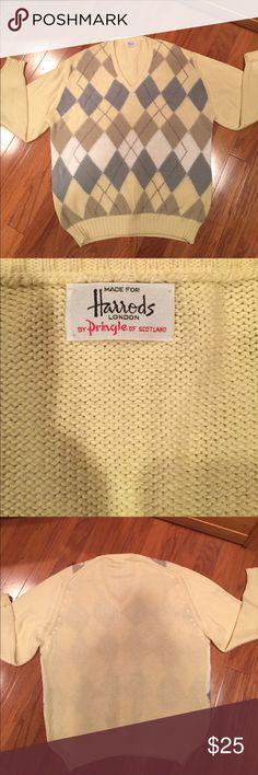 Cotton Harrods men's sweater. Great condition. 100% cotton. Harry's of London Sweaters V-Neck