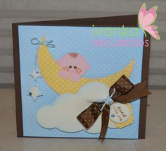 by iliana Punch art baby shower invitation card.\ visit me at http://stampingwithbibiana.blogspot.com/