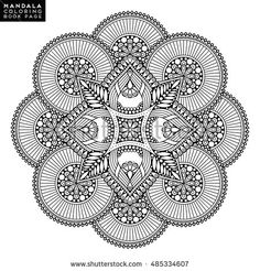 Find Flower Mandala Vintage Decorative Elements Oriental stock images in HD and millions of other royalty-free stock photos, illustrations and vectors in the Shutterstock collection. Mandala Art Lesson, Mandala Artwork, Mandala Drawing, Mandala Oriental, Motif Oriental, Oriental Pattern, Pattern Coloring Pages, Mandala Coloring Pages, Coloring Book Pages