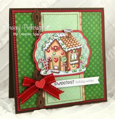 Your Next Stamp - November Fun Friday Challenge - Fhiona's Gingerbread House Christmas Cards, Xmas, Arts And Crafts, Paper Crafts, House Of Cards, Good Friday, Holiday Wishes, Winter Cards, Paper Decorations