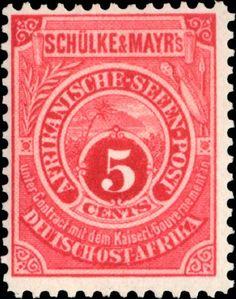 German_East_Africa_Schulke-and-Mayr_5c_Genuine 1892. Private Shipmail. Schülke & Mayr. 5 Cents