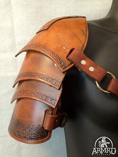 Leather Shoulder Armour - LARP