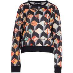 Nhivuru Sweatshirt ($95) ❤ liked on Polyvore featuring tops, hoodies, sweatshirts, black, black sweat shirt, sweat shirts, long sleeve tops, black top and sweat tops
