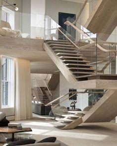 Spectacular #Staircase design.  Soho Loft design by Gabellini Sheppard Associates.
