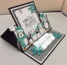 Linda's Craft Room: Sleigh ride box frame and snow place swing easel cards
