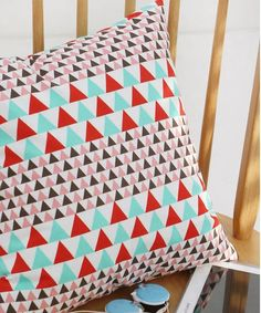 Vivid Triangle Pattern Cotton Fabric by Yard by luckyshop0228