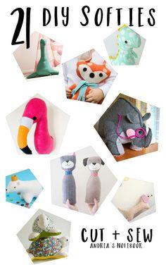 21 DIY softies to sew!