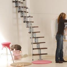 Модульная лестница для маленького проема