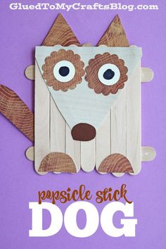 Popsicle Stick Dog - Kid Craft