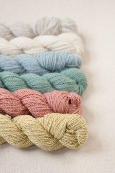 Quince & Co. just released new colours of their wool-alpaca blend, Owl. Wool Thread, Wool Yarn, Crochet Yarn, Knitting Yarn, Ribbon Yarn, Yarn Stash, Yarn Colors, Colours, Knit Mittens