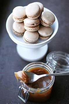 Call me cupcake: Chocolate and salted butter caramel macarons!