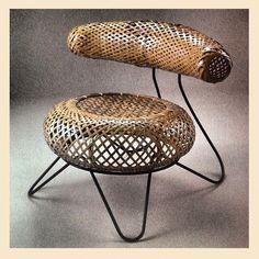 Bamboo Basket, Japanese Bamboo, Isamu Noguchi, Rattan Chairs, Japanese  Design, The Chair, Basket Weaving, Chair Design, Furniture Design