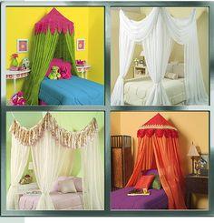 Canopy ideas for a little girl's room.