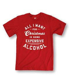 Red 'All I Want for Christmas' Tee by Festuvius #zulily #zulilyfinds