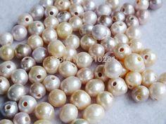 Free Shipping!!! LK-1892 Natural freshawater pearl, potato pearl, 9-10mm with 2mm big hole 1000pcs/lot $149.33