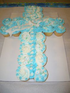 Baptism Cupcake Cross