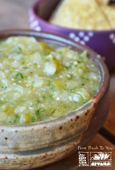 Tomatillo Salsa Verde - Roasted tomatillos, jalapeños and onions give this tomatillo salsa (or salsa verde) a delicious and complex flavor. We love dipping chips in it, but it also works well as a green enchilada sauce.