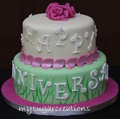 Φτιάξτε μια όμορφη διώροφη τούρτα για την επέτειο του γάμου σας!