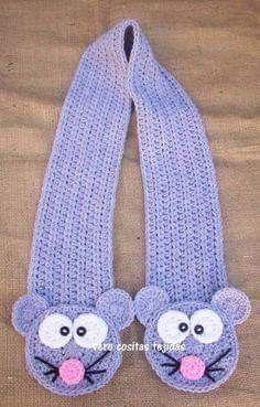 Childrens Crochet Hats, Crochet Kids Hats, Cute Crochet, Crochet Scarves, Beautiful Crochet, Crochet Scarf Diagram, Diy Crochet Patterns, Crochet Shawl, Crochet Projects