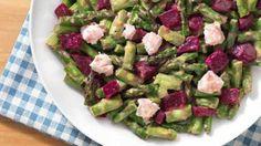 Recette de Candice: Salade d'asperges vertes et de betterave à la feta, vinaigrette acidulée