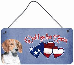Woof if you love America English Foxhound Painting Print
