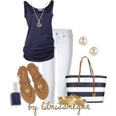 Navy and White.  Cute but skip the over the top nautical accessories.  We get it.