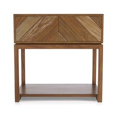 Chevron Nightstand  | Crate and Barrel