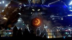 It's like an awesome version of Power Rangers haha, Giant Robots vs. Giant Monsters, yeah i'm in! Pacific Rim - Con Footage [HD], via YouTube.