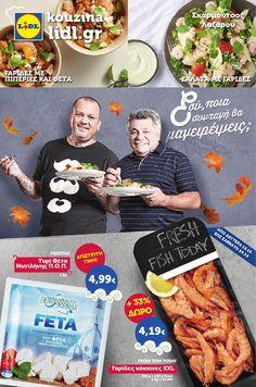 Lidl Hellas. Online φυλλάδιο «Εσύ ποια συνταγή θα μαγειρέψεις ;». Οι προσφορές φυλλαδίου (40 σελ) ισχύουν από (αύριο) Δευτέρα 19.10 έως Σαββάτο 24.10.2015. Ξεφυλλίστε το online : http://www.helppost.gr/prosfores/super-market-fylladia/lidl/