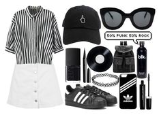 """Black and white weekend"" by kisskatabogi ❤ liked on Polyvore featuring Topshop, Relaxfeel, adidas, CÉLINE, Marc Jacobs and NARS Cosmetics"