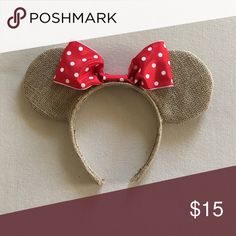 Old Fashion Ears Handmade Mickey ears! These are made with burlap for an old fashion look! Comment below if you have an ideas or would like your own customized ears!✨ Other