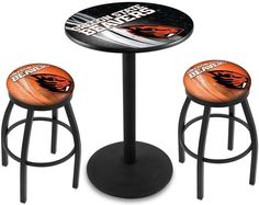 Oregon State Beavers D2 Black Pub Table Set. Available in two table widths. Visit SportsFansPlus.com for Details.