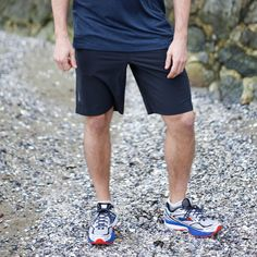 """Brooks Pureproject 10"""" Short The men's PureProject Running Shorts are perfect for anyone who likes their shorts not so short. Made from four-way stretch fabric and sporting a 10-inch inseam, these shorts will feel like they were made just for you."""