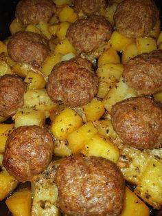 Cookbook Recipes, Cooking Recipes, True Food, Recipe Images, Greek Recipes, Healthy Snacks, Sausage, Meat, Vegetables