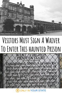 This haunted prison in West Virginia is so terrifying and potentially dangerous that visitors must sign a waiver to enter. Are you brave enough to take a chilling tour? Halloween Attractions, Haunted Attractions, Most Haunted Places, Spooky Places, Scariest Haunted House, Real Haunted Houses, Abandoned Prisons, Abandoned Places, Abandoned Castles