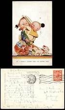 MABEL LUCIE ATTWELL 1929 Old Postcard If I Didn't Loves Yer I'd Hates, Baby 1352