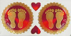 Foot Prints of Goddess Lakshmi (Sticker Foot Prints))