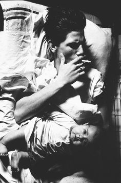 """Larry Cark - """"Man with Baby"""". S)"""