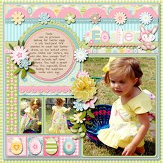 Such a cute Easter page - love the pastels - http://Scrapbook.com