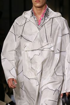 Hermès Spring 2015 Menswear - Collection - Gallery - Style.com Raincoat//anorak detail