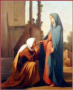 ... Y sucedió que, en cuanto oyó Isabel el saludo de María, saltó de gozo el niño en su seno, e Isabel quedó llena de Espíritu Santo;...