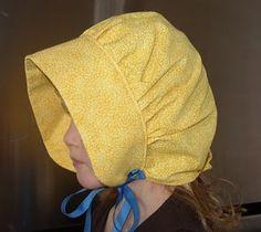 Basic bonnet tutorial (excellent modifications at http://fabricateandmira.wordpress.com/2010/09/17/the-joy-of-having-a-grandmother-who-sews/)