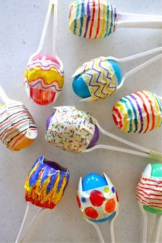 make maracas from plastic Easter eggs